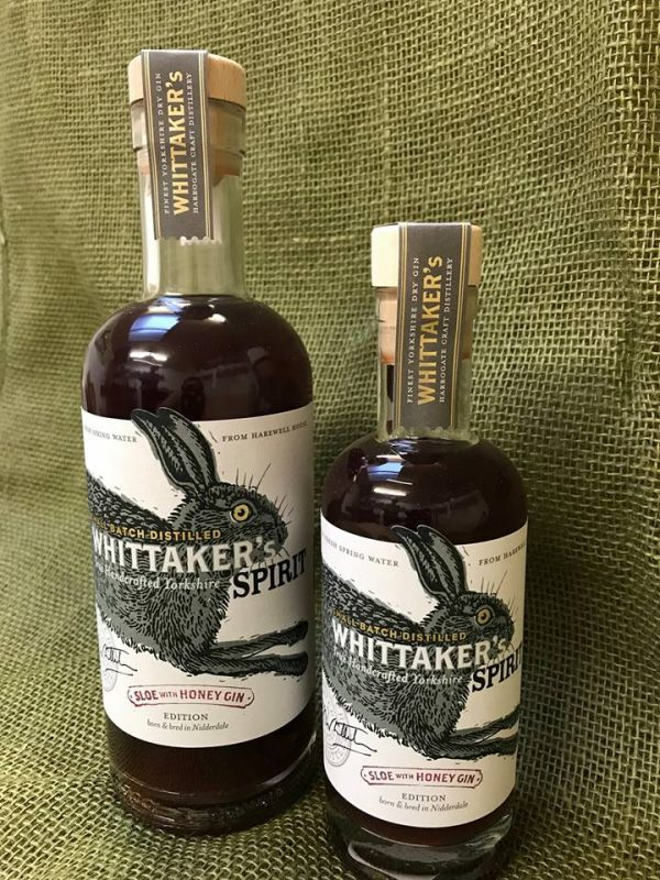 whittakers sloe and honey yorkshire gin