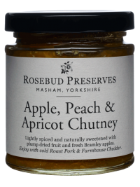 rosebud apple peach apricot chutney
